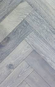 silver white herringbone parquet flooring slightly brushed mixed