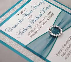 Bling Wedding Invitations Teal Wedding Invitations U2013 Gangcraft Net