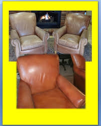Cleaning Leather Chairs Total Apparel Care Denver Leather Furniture Restoration Before