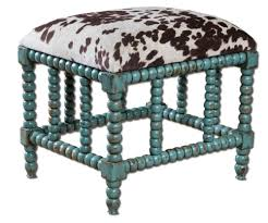 Bathroom Vanity Stool Uttermost Chahna Small Bench Aqua Blue Hayneedle