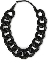 chain leather necklace images Natalia brilli leather chain choker necklace in black lyst jpeg