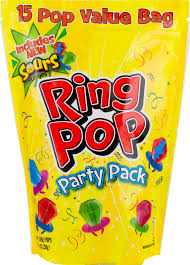 personalized ring pops bazooka ring pop party pack 15 pops 7 50 oz ea walmart