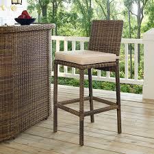 Jaavan Patio Furniture by Crosley Bradenton Wicker Bar Stool Set Of 2 From Hayneedle Com