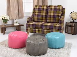 Leather Moroccan Ottoman by Faux Leather Moroccan Bean Bag Pouffe In Various Colours
