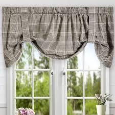 Tie Up Curtains Ellis Curtain Morrison Plaid Cotton Tie Up Curtain Valance