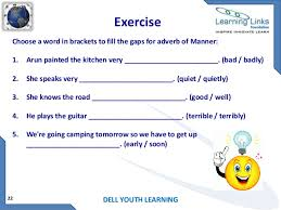 pre worksheets adverb of time place and manner worksheets