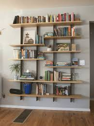 Wooden Storage Shelves Designs by Best 25 Floating Bookshelves Ideas On Pinterest Bookshelf