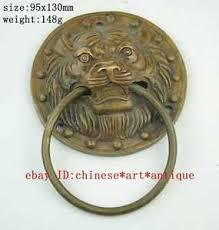 foo dog door knocker large bronze foo dog foo lion door knocker c02 ebay