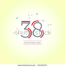 38th anniversary logo letter design vector stock vector 624353474