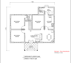 floor house plans single floor kerala style house design 1155 sq ft