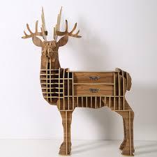 wood craft deer desk deer coffee table wooden home furniture fsc