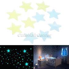 Schlafzimmer Blau Gelb Neue 100 Stücke 3d Sterne Floureszierende Blau Gelb Leuchtende