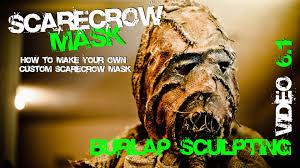 scarecrow halloween mask 6 1 how to burlap sculpt top secret stuff here scarecrow mask