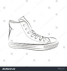 sketch sports shoes on white background stock vector 483799606