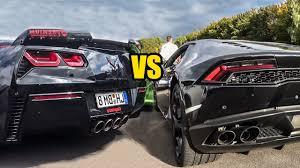 corvette vs lamborghini chevrolet corvette z06 vs lamborghini huracan lp610 4 revs