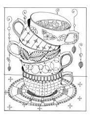 a big cup of nope coffee tea cup coloring page line u0027s