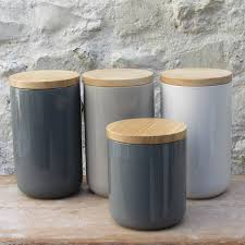 Pottery Kitchen Canisters Ceramic Storage Jars With Wooden Lids Storage Jars Chalkboards