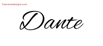 dante archives free name designs