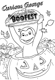 curious george halloween coloring pages u2013 festival collections