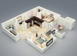 Studio Apartment 3d Floor Plans Studio Apartment Floor Plans And One Bedroom For Apartments