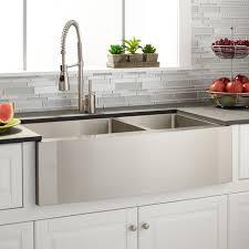 Stainless Steel Farm Sinks For Kitchens 36 Optimum 60 40 Offset Bowl Stainless Steel Farmhouse