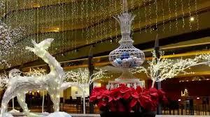 christmas decorations at the hyatt hotel san francisco ernesto