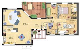 Plan De Maison En Longueur Maison En Bois Plans U0026 Maisons