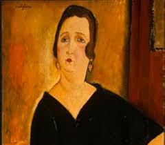 modigliani woman with a fan in head for art
