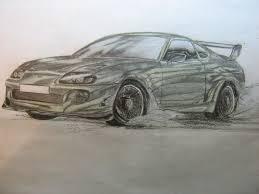 toyota supra drawing рисунок toyota supra drift u2014 drive2