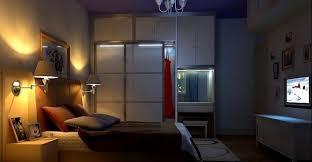 3d interior of bedroom lighting interior design