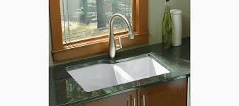 undermount kitchen sink with faucet holes standard plumbing supply product kohler k 5931 4u 0 executive