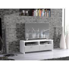 meuble tv pour chambre finlandek meuble tv helppo contemporain blanc et gris l 95 cm
