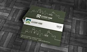 modern real estate business card template free download re00001