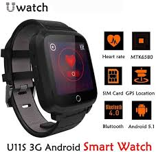 smart watches android u11s smart 3g rate monitor android 5 1 wifi gps best