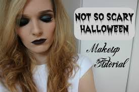 not so scary halloween makeup tutorial youtube
