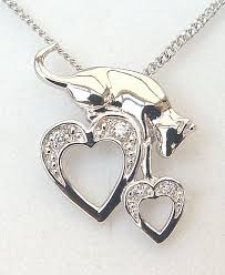 cat necklace silver images Capture my heart cat necklace jpg
