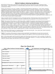 pdca template science and technology technology