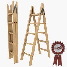 Fold Up Step Ladder by Wooden Folding Ladder