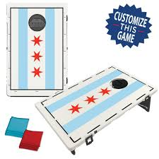 Chicaho Flag Chicago Flag Bean Bag Toss Game By Baggo