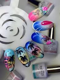 pink green and blue claw acrylic nails nails 2 pinterest