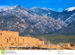 Taos New Mexico Map by Taos New Mexico Sangre De Cristo Mountains Ancient History Stock