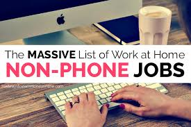 Computer Help Desk Jobs From Home by List Of 100 Non Phone Work From Home Jobs