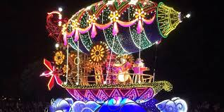 electric light parade disney world tangled float in dreamlights at tokyo disney tdr explorer