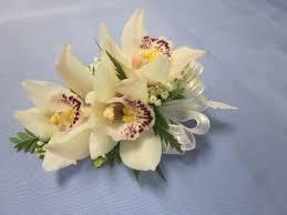 Orchid Corsage White Mini Cymbidium Wristlet 25 00 Order White Mini Cymbidium