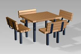 Site Table by Timberform Site Furnishings