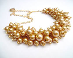 gold chunky necklace images Chunky gold necklace etsy jpg