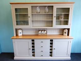 Kitchen And Dining Room Bespoke Painted Dresser With Wine Rack Bespoke Kitchen And
