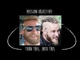 why did ragnar cut his hair vikings ragnar stunt double diy how to cut your own hair youtube