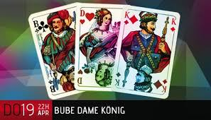 in cards k king and q what letters do these 2 cards