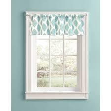 Living Room Ideas Better Homes And Gardens Better Homes And Gardens Aqua Ikat Diamonds Valance Walmart Com